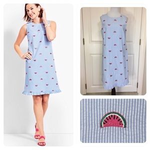 Talbots Seersucker Watermelon Dress